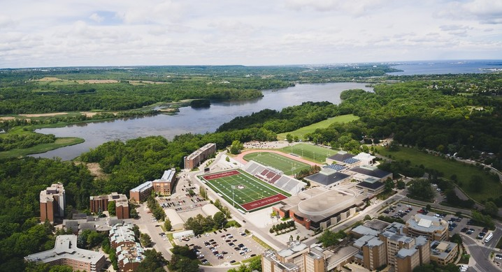 Drone campus shot